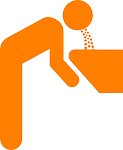 figure, vomit, orange