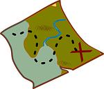map, treasure, pirate