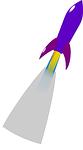 rocket, purple, launch