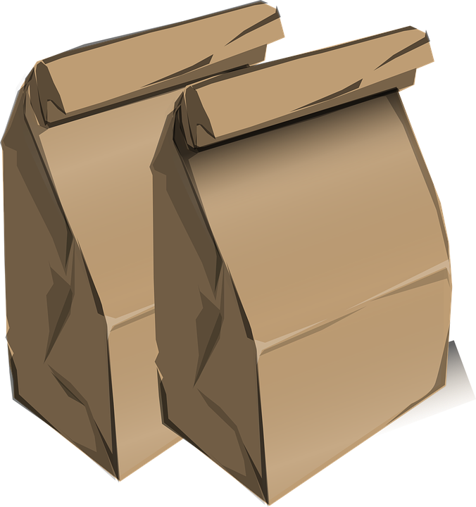 brown paperbags lunch bags school  u00b7 free vector graphic on pixabay School Lunch Tray Clip Art hot lunch tray clipart