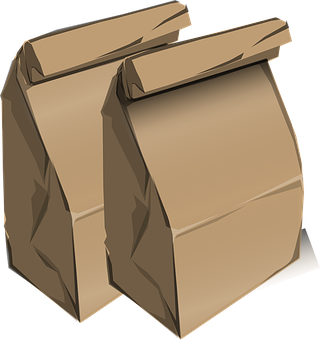 Brown Paperbags Lunch Bags School Lunch Sa