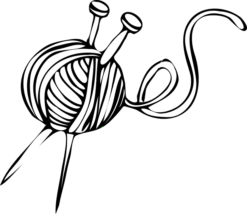 Knitting Clipart Png : Free vector graphic knitting ball needles yarn