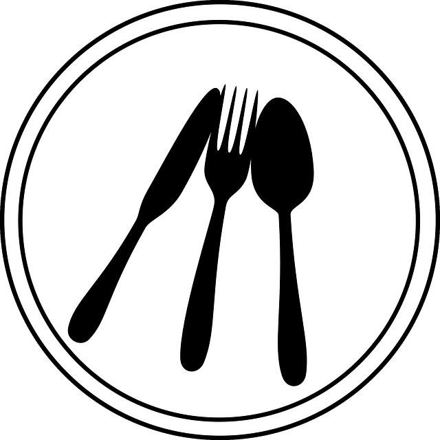 Kitchen Art Logo: Ajuste De Lugar Talheres Placa · Gráfico Vetorial Grátis