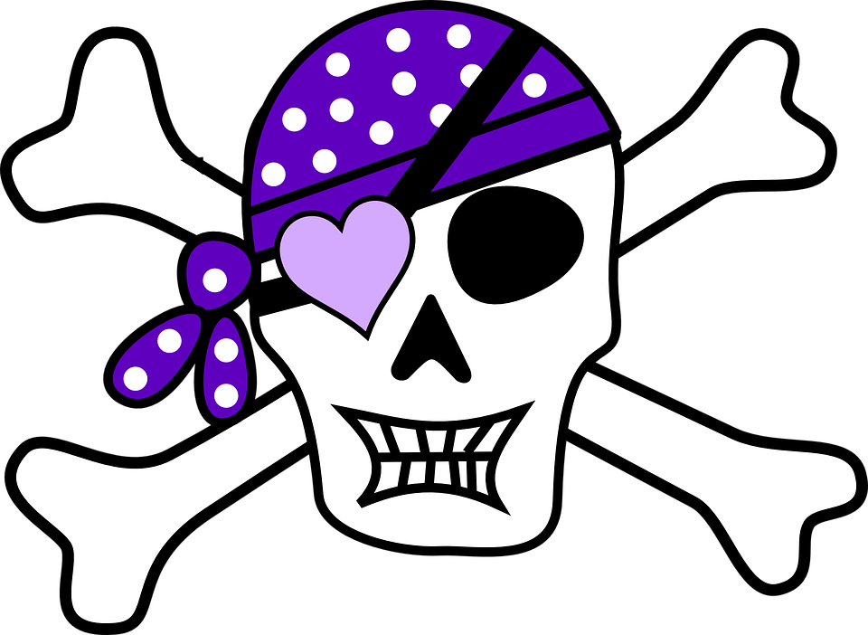 pirate skull purple free vector graphic on pixabay rh pixabay com