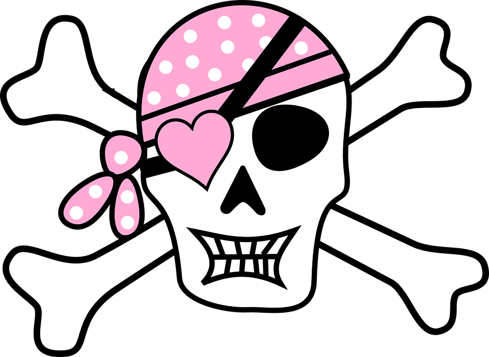 pirate skull and crossbones free vector graphic on pixabay rh pixabay com