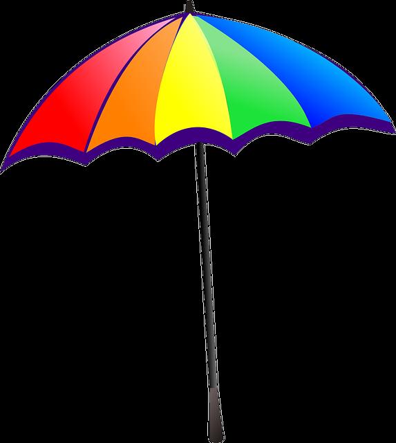 Umbrella Rainbow Colorful · Free vector graphic on Pixabay