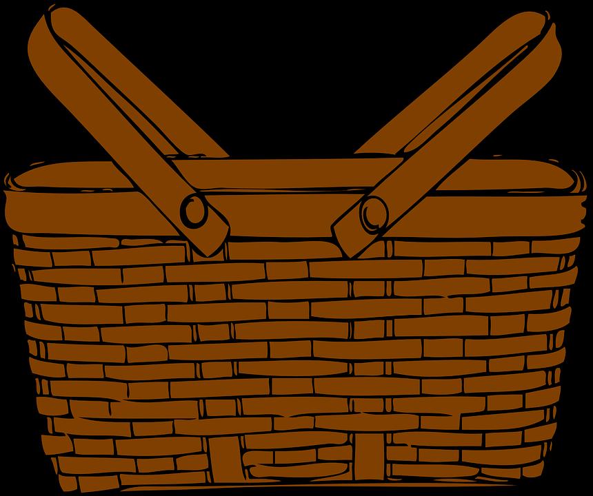 Picnic Basket Graphic : Basket picnic brown ? free vector graphic on pixabay