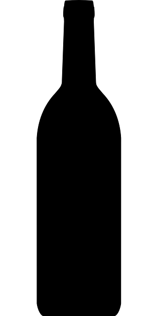 Free vector graphic bottle wine black silhouette for Set de table plastique transparent