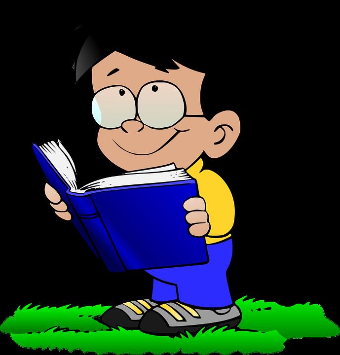 少年, メガネ, 本, 学校, 笑顔, フレンドリー, 草, 質問, 熱心な, 学ぶ, 素晴らしい