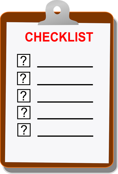 Crush image inside blank checklist
