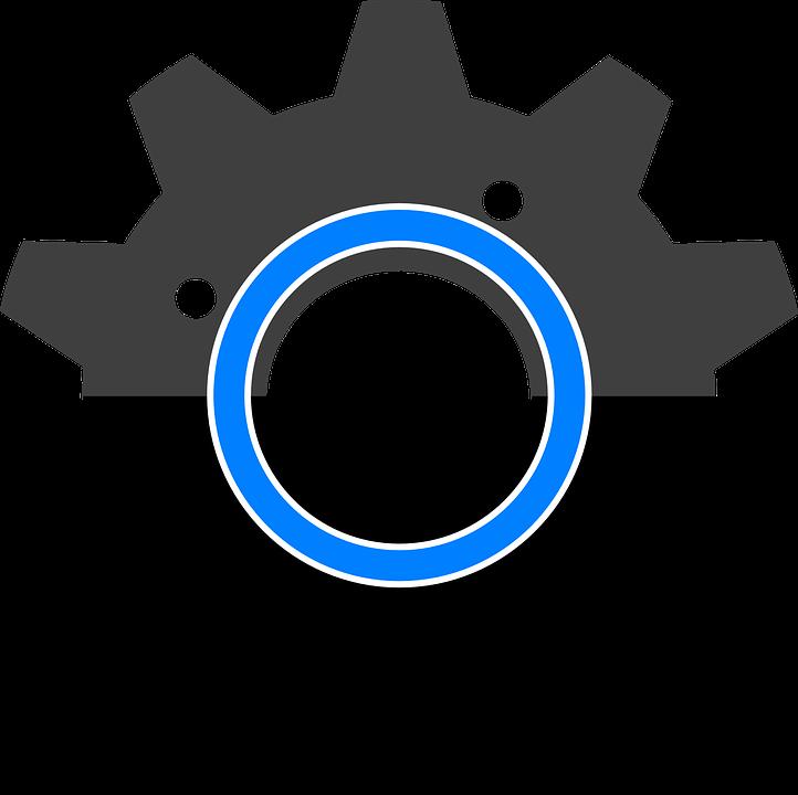 Gear Black Symbol Free Vector Graphic On Pixabay