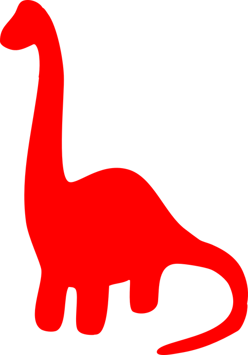 Dinosaur Red Silhouette · Free vector graphic on Pixabay