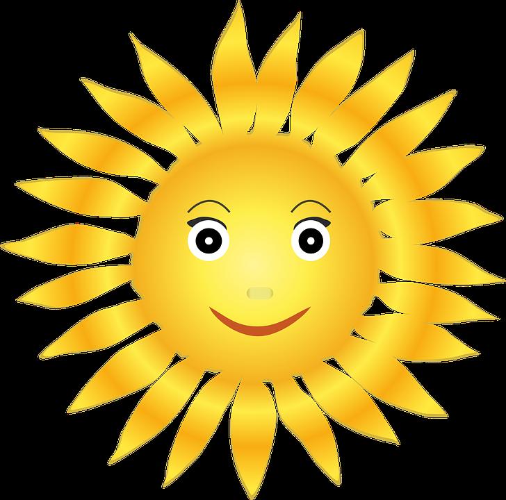 Sol, Helios, Glad, Ansigt, Lyse, Lys, Positiv, Varm