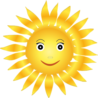 Sun Solar Helios Happy Face Bright Light P