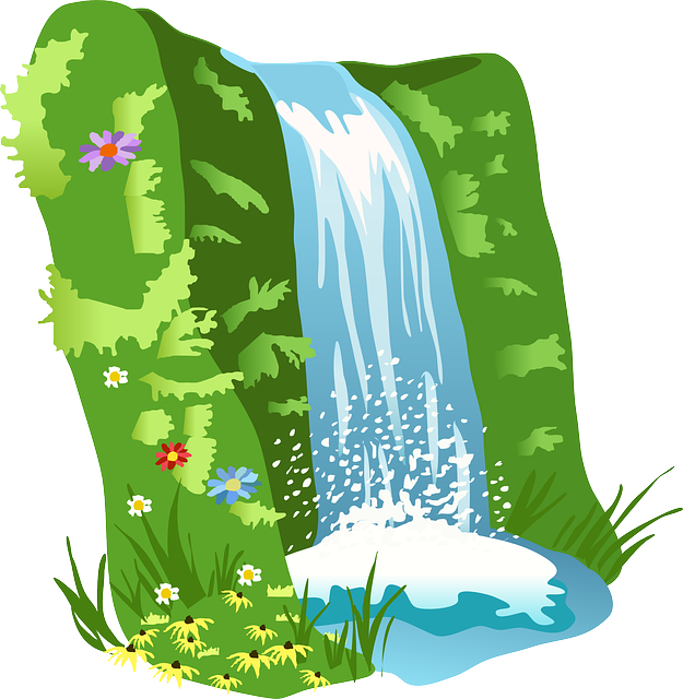 waterfall water nature free vector graphic on pixabay rh pixabay com waterfall clip art free download waterfall clipart gif