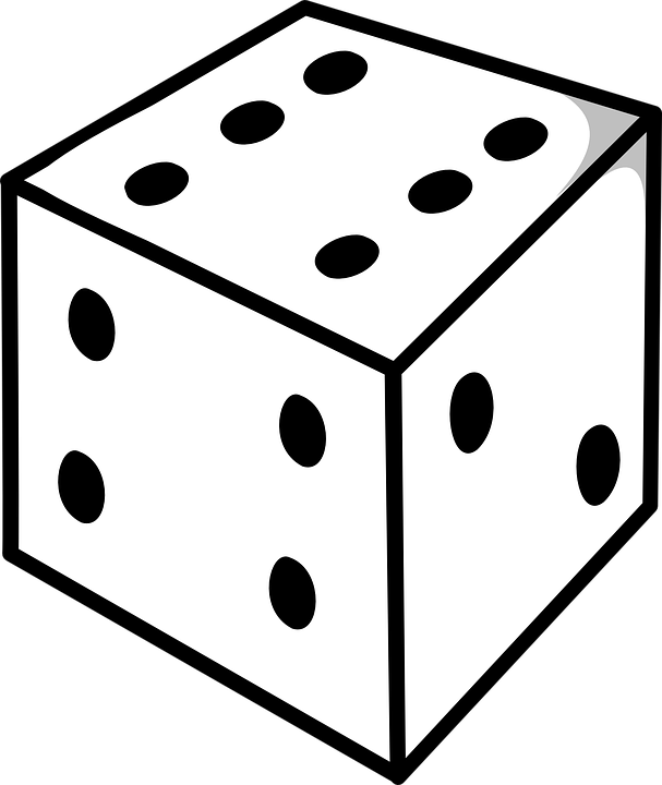 3d Line Drawing Game : Kostenlose vektorgrafik w�rfel sechs vier zwei augen