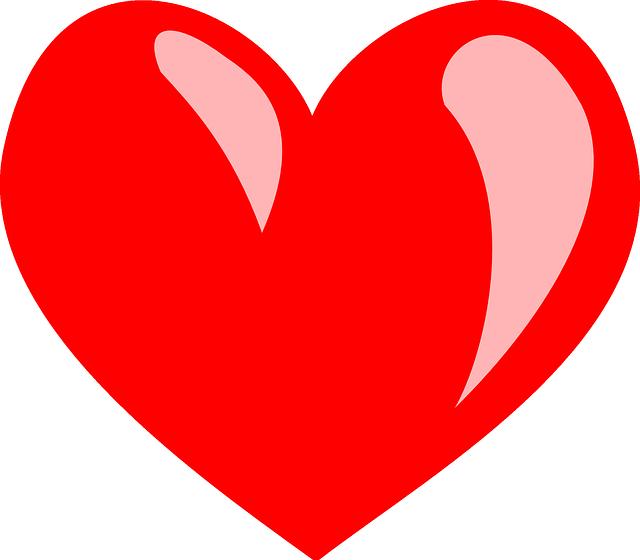 Immagine vettoriale gratis cuore rosso san valentino - Images coeur gratuites ...