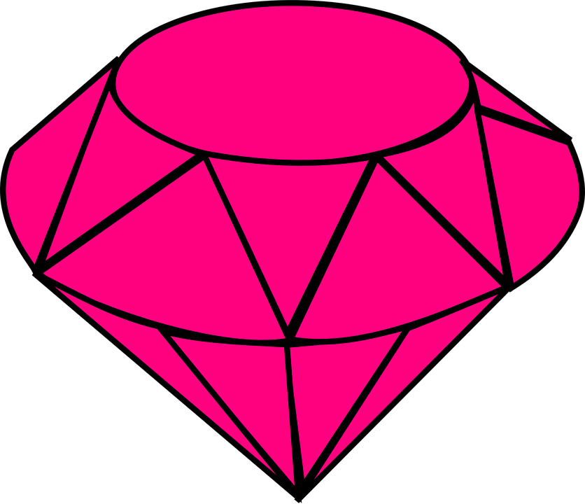 Line Drawing Jewel : Ruby jewel gem · free vector graphic on pixabay