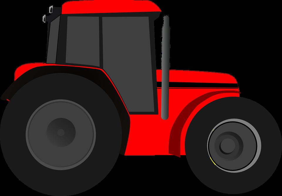 Tractor Cartoon Picker : Traktori punainen international · ilmainen
