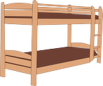 bunk bed, stack, wooden