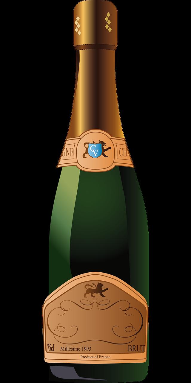 Можно, бутылка шампанского в картинках