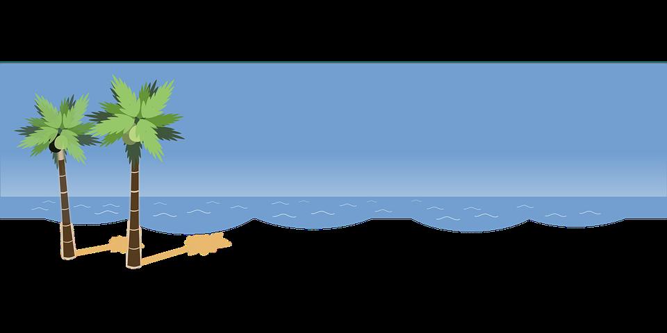 beach palms ocean  u00b7 free vector graphic on pixabay Free Wedding Borders Clip Art Free Border Templates