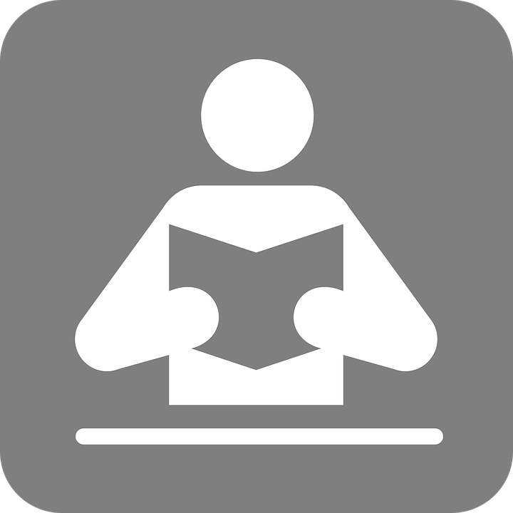 Lesung, Buch, Symbol, Icon, Leser, Mann, Design