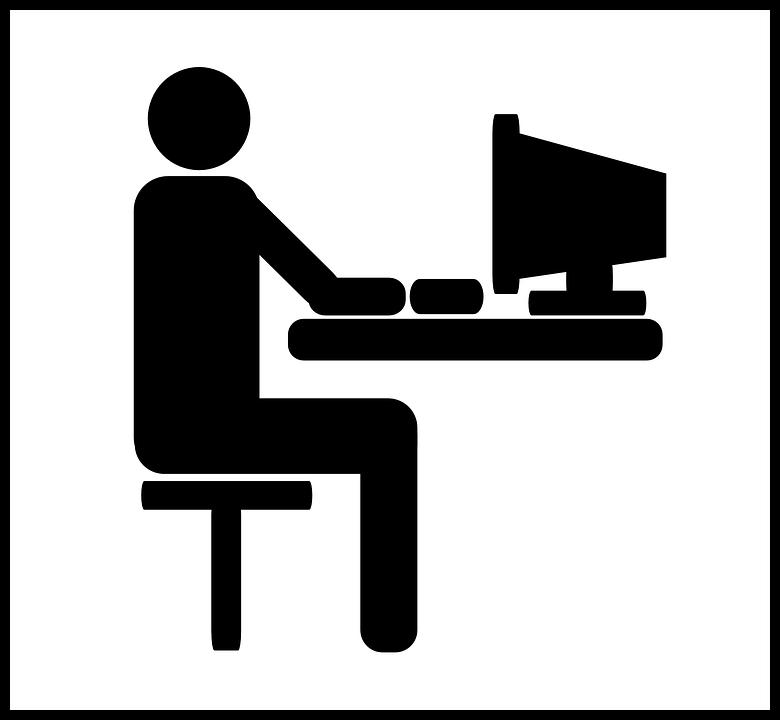 Kostenlose Vektorgrafik Computer Schreibtisch Mann