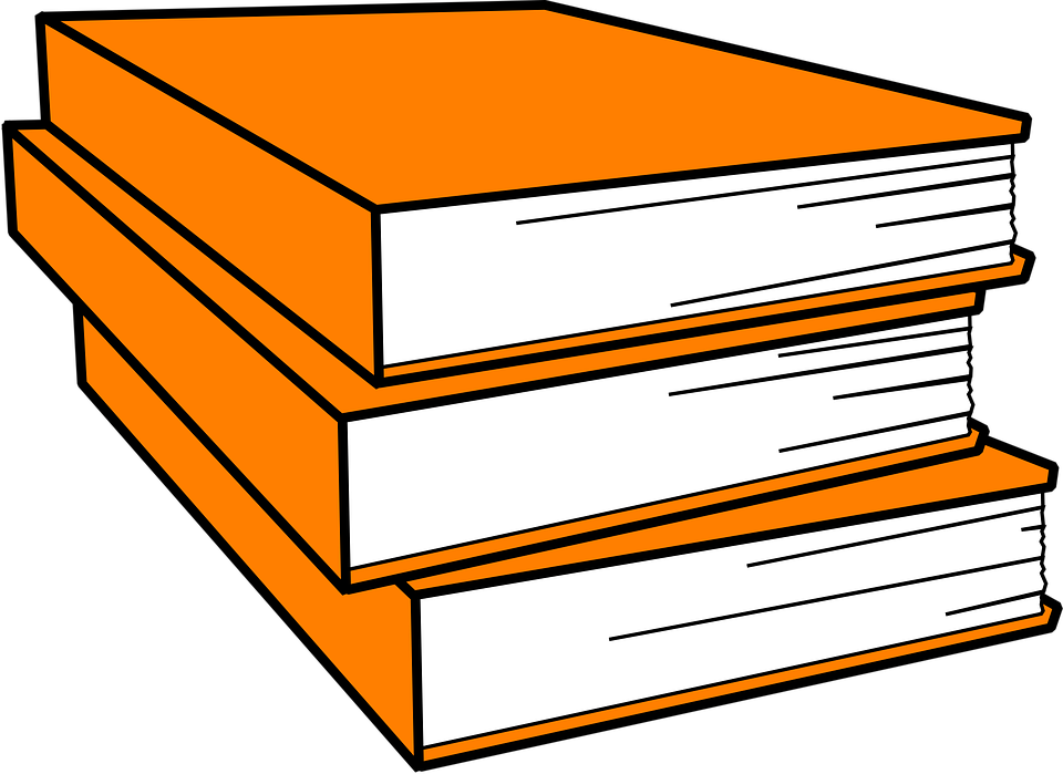 Free Vector Graphic Books Pile Orange Close Library