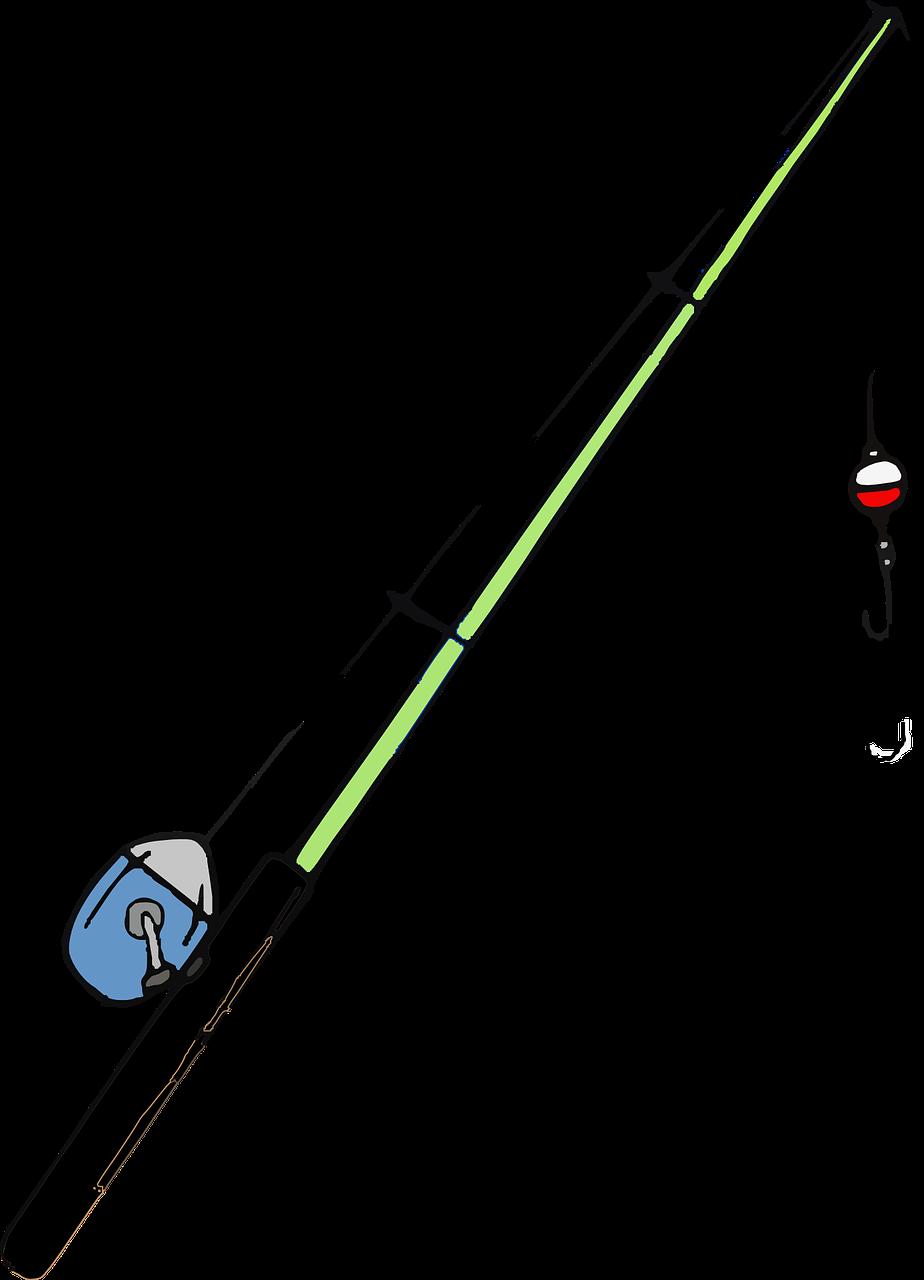 Fishing Rod Hook Pole Free Vector Graphic On Pixabay