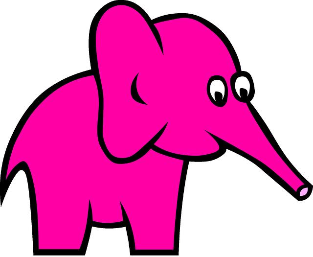 Розовый слон картинки для детей