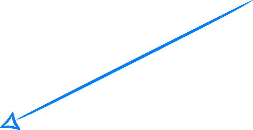 Free Vector Graphic Arrow Handdrawn Blue Left Down