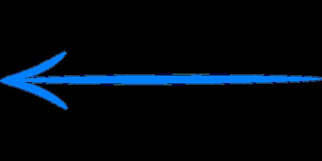 Vector gratis flecha izquierda azul handdrawn imagen gratis en pixabay - Pied de table transparent ...