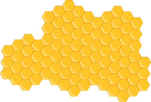 Hive, Honeycomb, Bee, Hexagon, Yellow