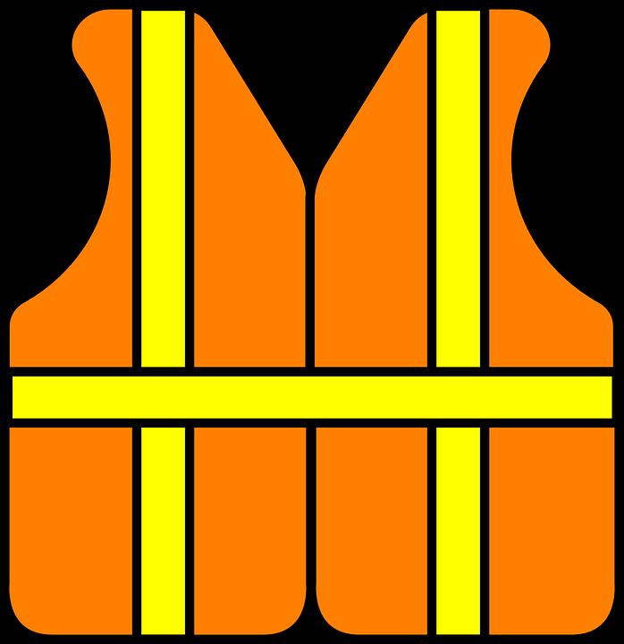 Safety Construction Vest Reflective Orange Yellow
