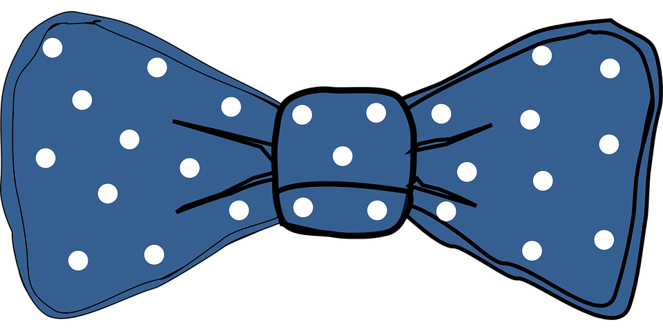Free Vector Graphic Tie Dots Bow Blue Fashion Free