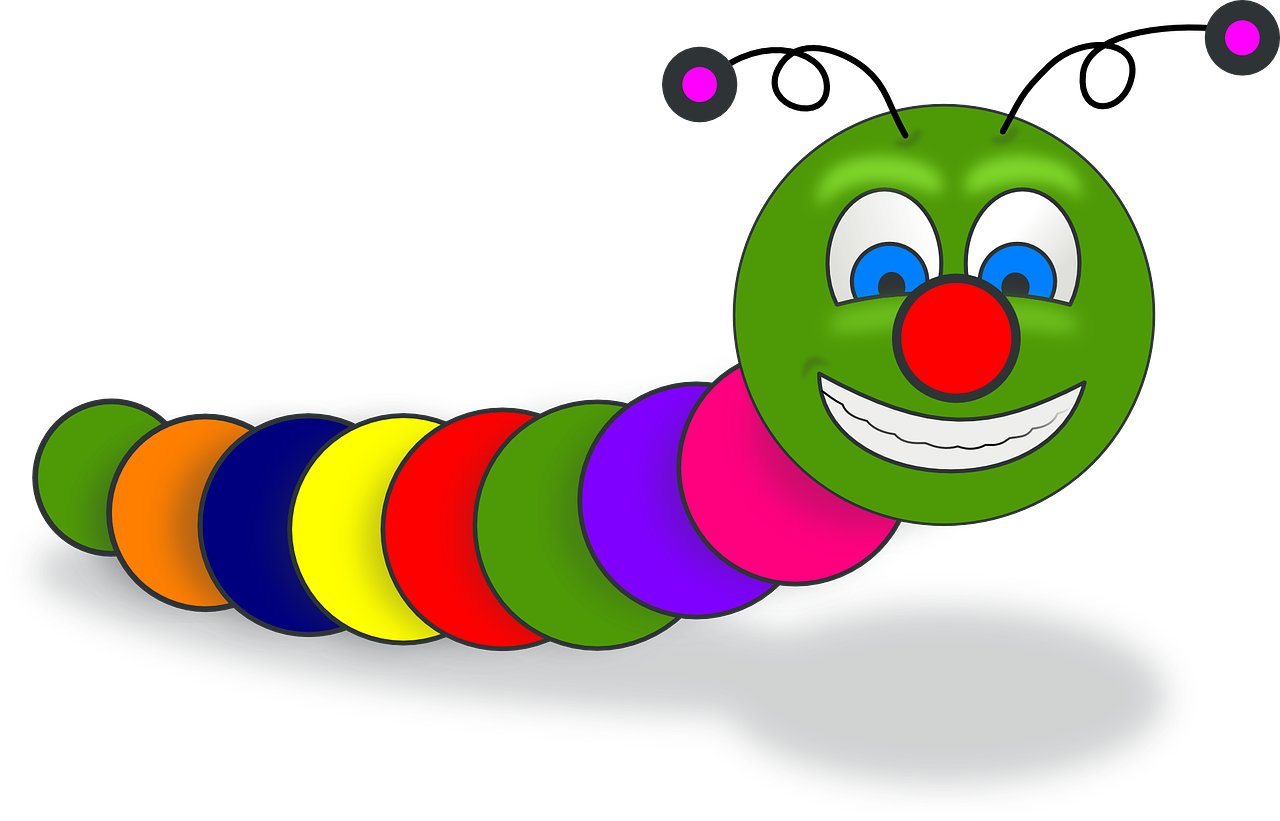 Cacing Buku Senyum Gambar Vektor Gratis Di Pixabay