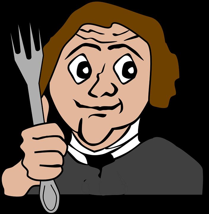 Image vectorielle gratuite faim fourche manger l 39 homme for Salle a manger dessin anime