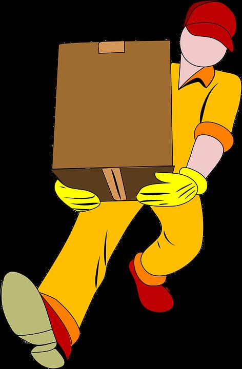 Мъж, Извършване, Кутия, Преместване, По-Малък, Картон