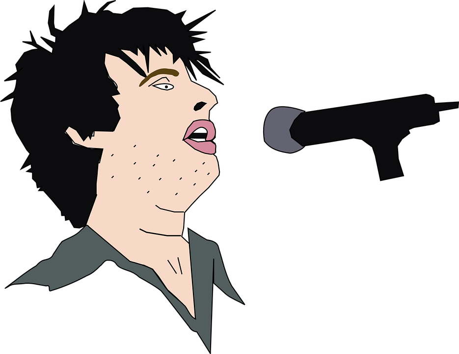 Free Vector Graphic: Singing, Man, Microphone, Singer