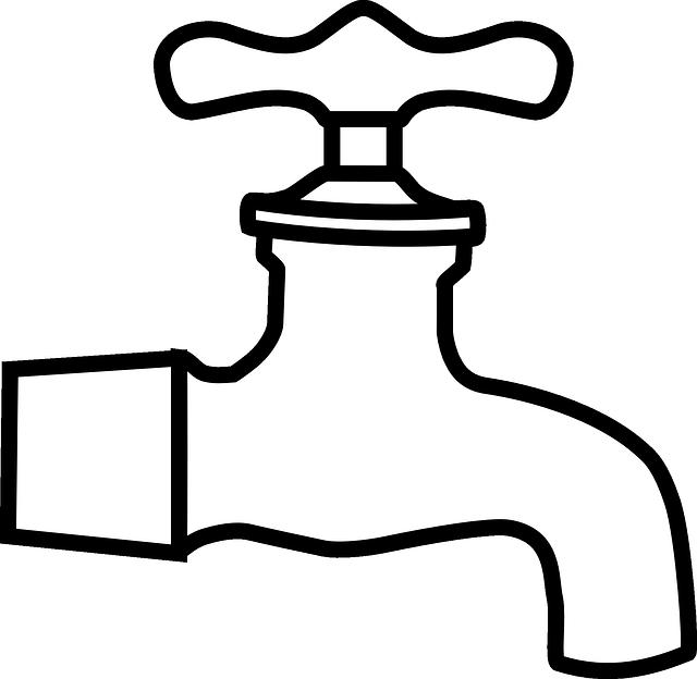 imagem vetorial gratis Água, torneira, prumo  imagem  ~ Wasserhahn Comic