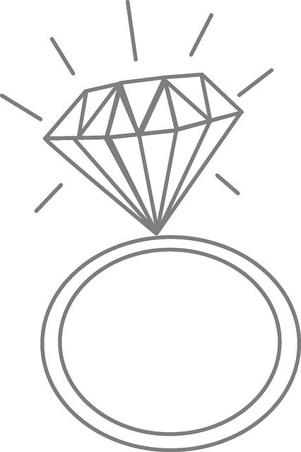 Wedding Ring Diamond Romance Free vector graphic on Pixabay
