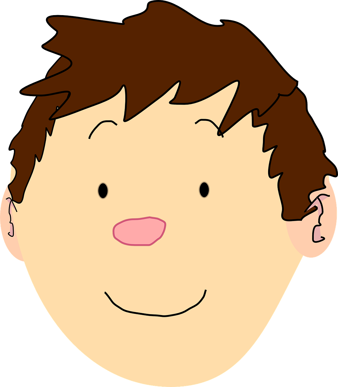 Boy Face Head Free Vector Graphic On Pixabay