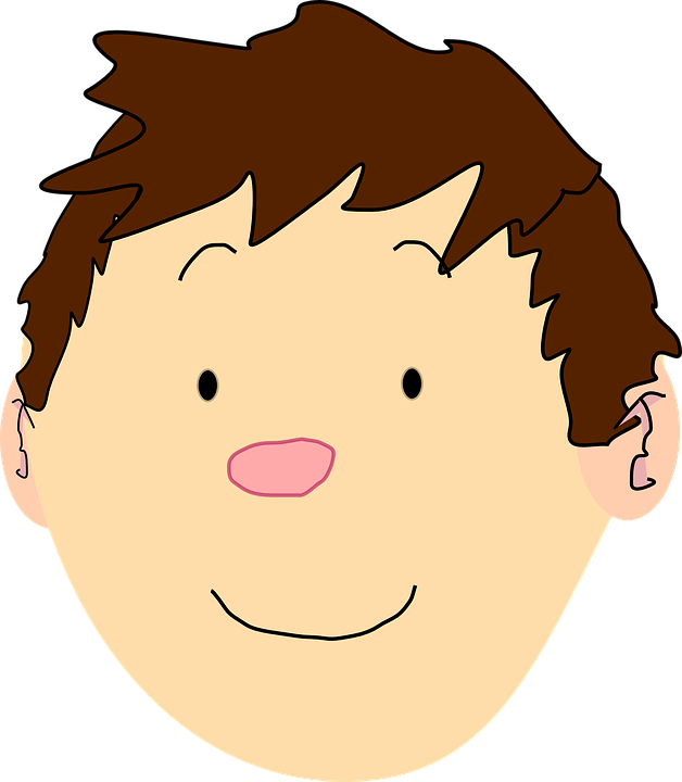boy face head free vector graphic on pixabay rh pixabay com cartoon boy face outline cartoon boy face drawing