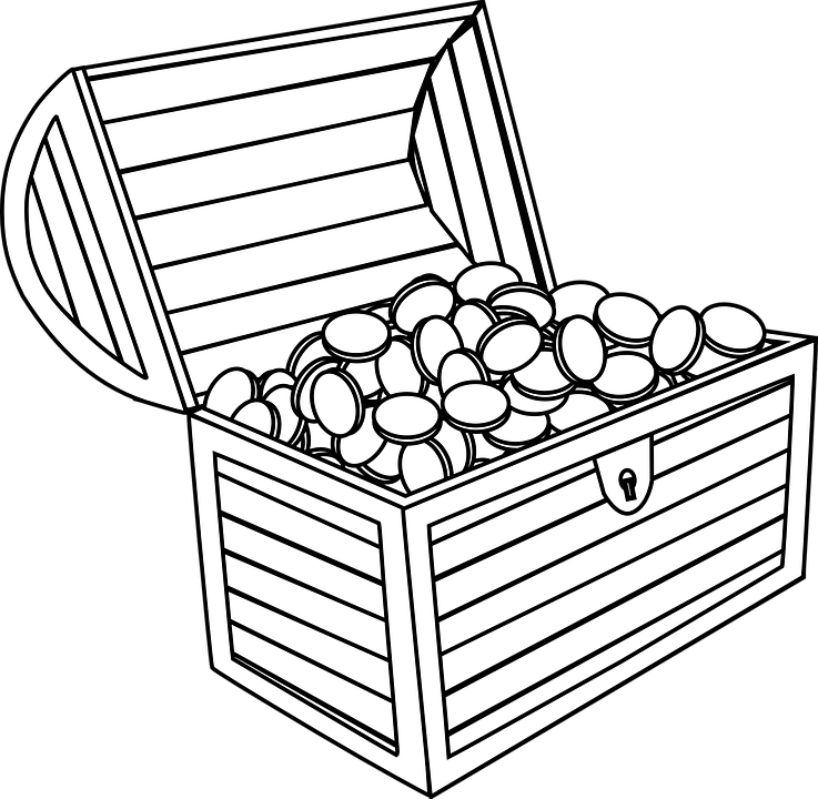 Treasure Chest Coins Open · Free vector graphic on Pixabay