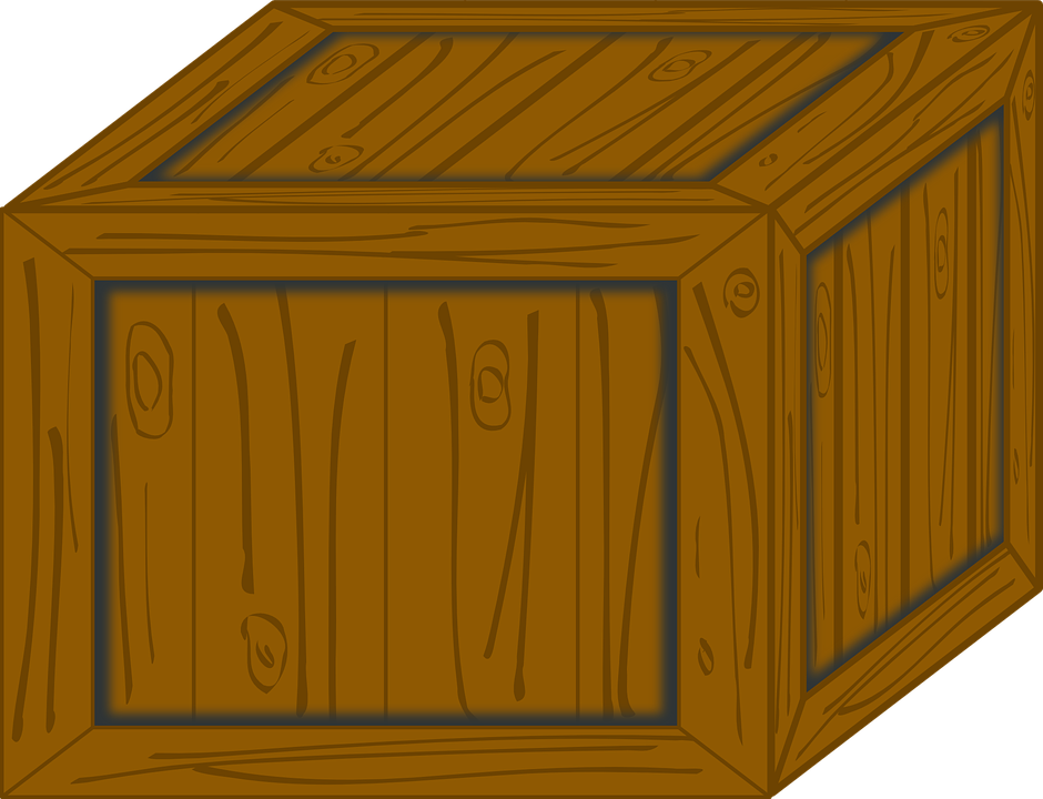 wooden box clipart. crate box wooden container package brown shipping clipart