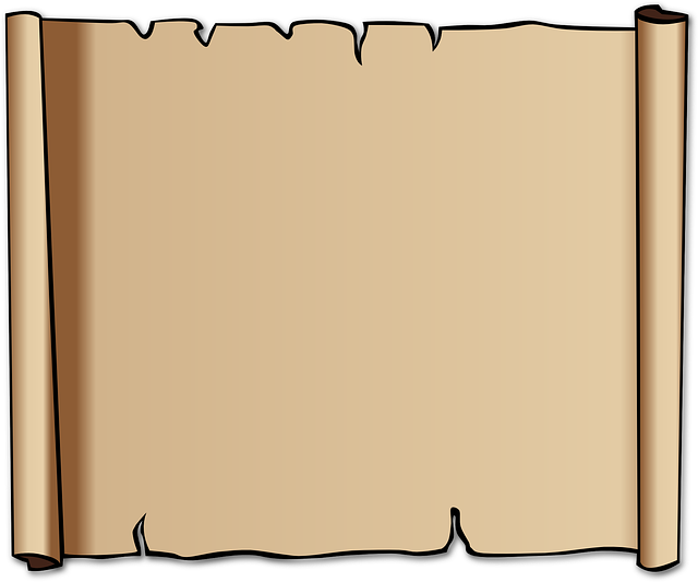 free vector graphic  scroll  old  blank  brown  paper