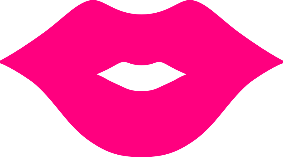 lips pink mouth free vector graphic on pixabay rh pixabay com  free clip art kissy lips