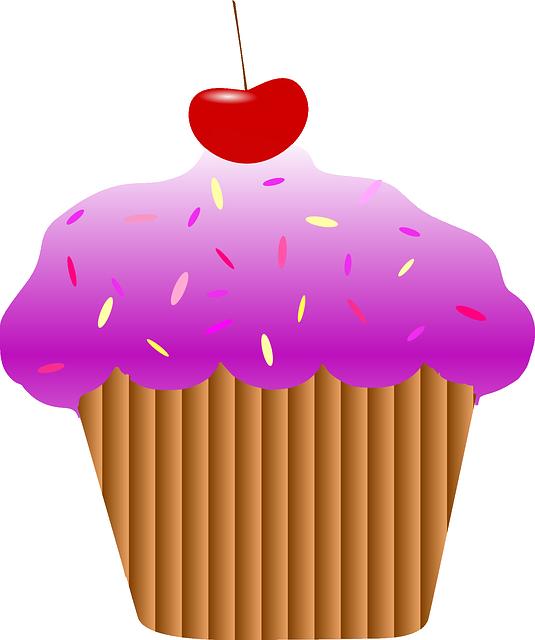 Cupcake Cherry Purple 183 Free Vector Graphic On Pixabay