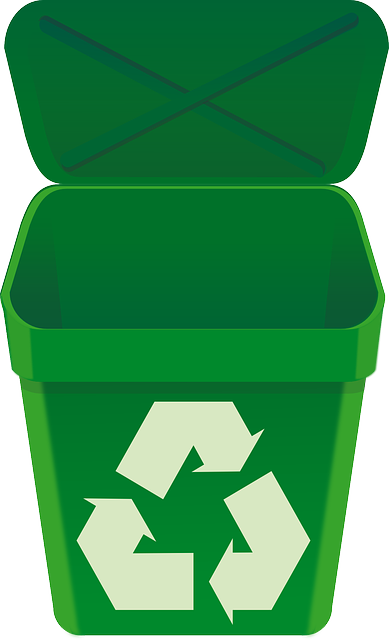 Free vector graphic recycle bin green can open lid - Poubelle recyclage cuisine ...